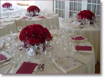1000 images about red aqua white reception - Red centerpieces for tables ...